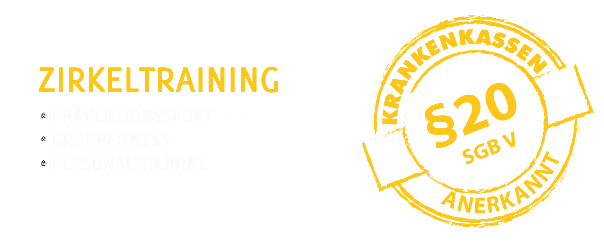 Zirkeltraining als Präventionssport, Groupfitness, Personaltraining