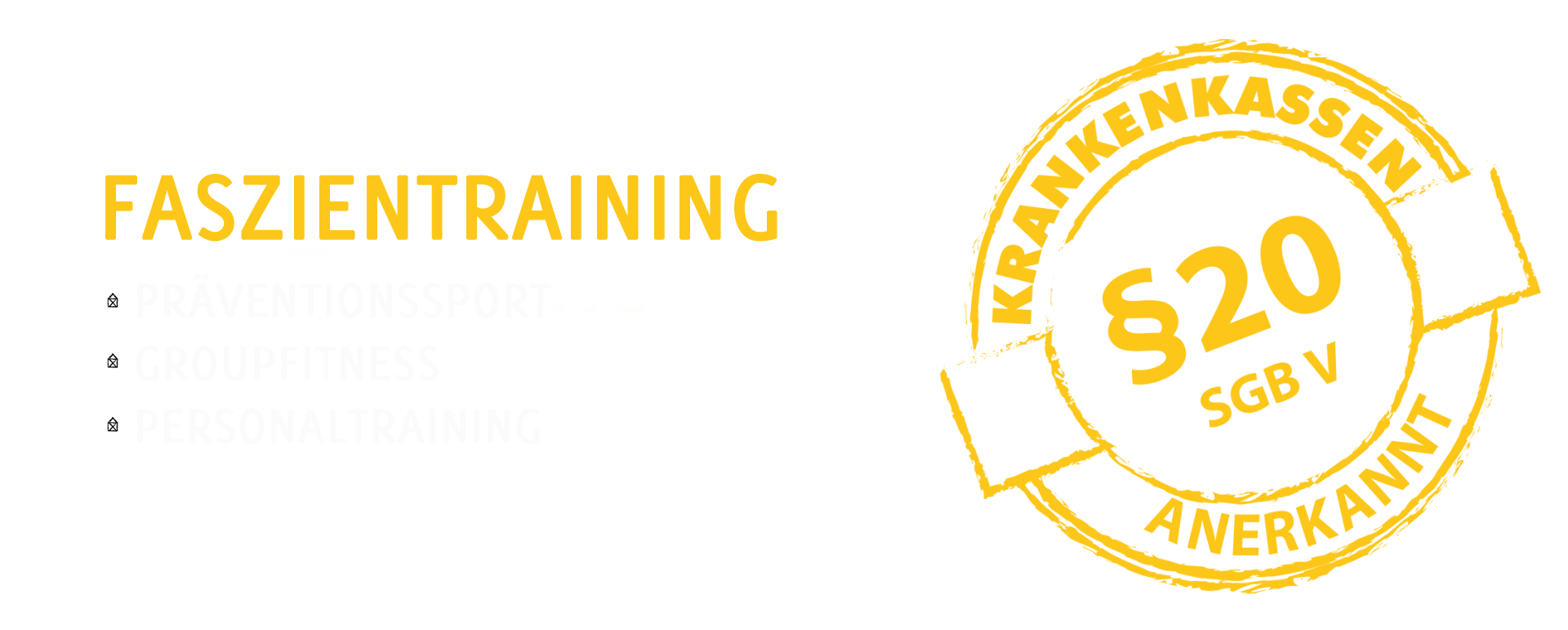 Faszientraining als Präventionssport, Groupfitness, Personaltraining